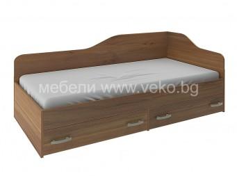 Легло НАНО орех за матрак 90/190