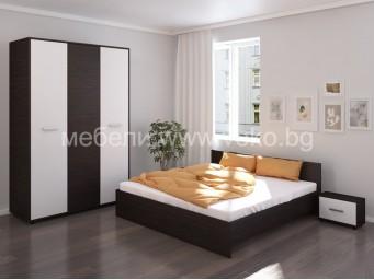 Спален комплект ХЕРА венге с бяло